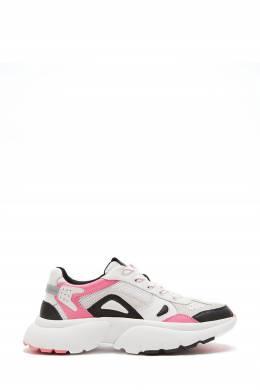 Бело-розовые кроссовки W20 Maje 888149629