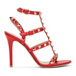 Valentino Red Valentino Garavani Rockstud Ankle Strap Sandals 192476F12500709GB