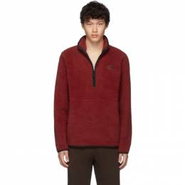 The North Face Red Sherpa Dunraven 1/4 Sweatshirt 192802M20200701GB