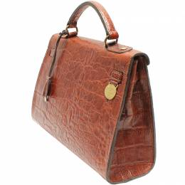 Mulberry Brown Leather Top Handle Bag 220452