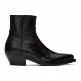 Saint Laurent Black Snake Lukas Boots 579679L0A00