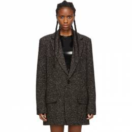 Tibi Black and Multicolor Recycled Tweed Long Blazer 192095F05700702GB
