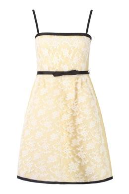 Желтое платье с контрастной отделкой Valentino 210150174