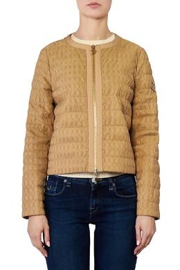 Коричневая куртка с фактурным узором Moncler 34150120