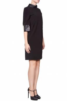 Короткое платье с кожаными манжетами Gucci 470150046