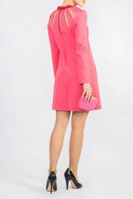 Розовое платье с прорезями Valentino 210150070