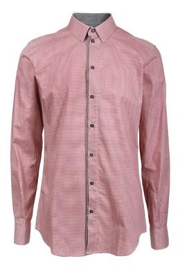 Рубашка с узором «гусиная лапка» Dolce & Gabbana 599150256