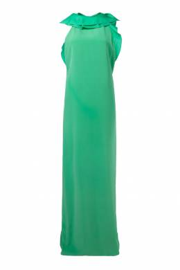 Платье с высоким воротником и оборками Gucci 470150031