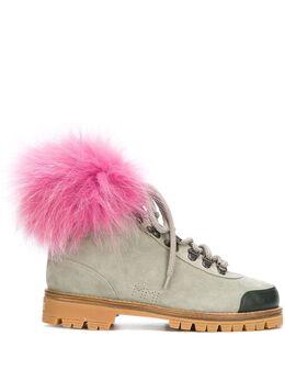 Mr & Mrs Italy ботинки с меховой отделкой PL013E