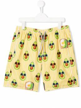 Mc2 Saint Barth Kids плавки-шорты с принтом Avacado Toast JEAN