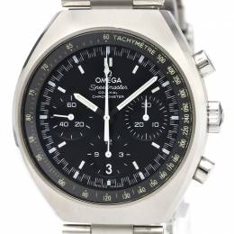 Omega Black Stainless Steel Speedmaster Mark II Co Axial Chronograph 327.10.43.50.01.001 Men's Wristwatch 42.4x46.2MM 220936