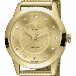 Rochas Champagne Gold-Plated Stainless Steel RP2L020M0031 Women's Wristwatch 34MM 221314