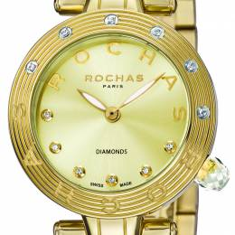Rochas Champagne Gold-Plated Stainless Steel RP2L002M0061 Women's Wristwatch 34MM 221339