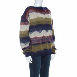 Vivienne Westwood Multicolor Striped Textured Wool Sweater L 221425