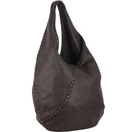 Bottega Veneta Brown Leather Baseball Hobo Shoulder Bag 221677