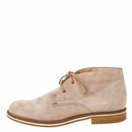 Tod's Beige Suede Lace Up Desert Boots Size 38 221841