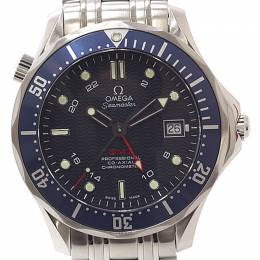 Omega Blue Stainless Steel Seamaster Diver GMT Co-Axial GMT 2535.80 Men's Wristwatch 41MM 221010