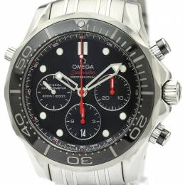 Omega Black Stainless Steel Seamaster Diver Co-Axial Chronograph 212.30.44.50.01.001 Men's Wristwatch 44MM 221001