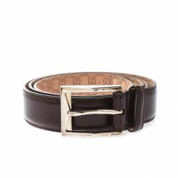 Gucci Brown Leather Buckle Belt 100CM 221238