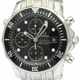 Omega Black Stainless Steel Seamaster Diver Chronograph 213.30.42.40.01.001 Men's Wristwatch 41.5MM 220985
