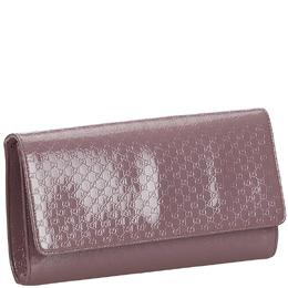 Gucci Purple Microguccissima Patent Leather Broadway Clutch 221172