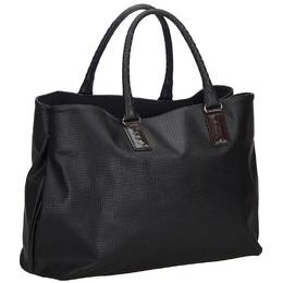 Bottega Veneta Black Leather Marco Polo Tote Bag 217379