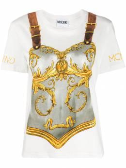 Moschino футболка с принтом J07125540