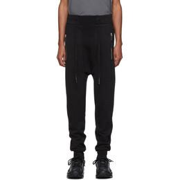 11 By Boris Bidjan Saberi Black Drawstring Lounge Pants P13 F-1235