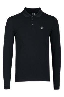 Черная рубашка-поло с логотипом Ea7 2944149723