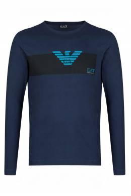 Темно-синяя футболка с рисунком Ea7 2944149717