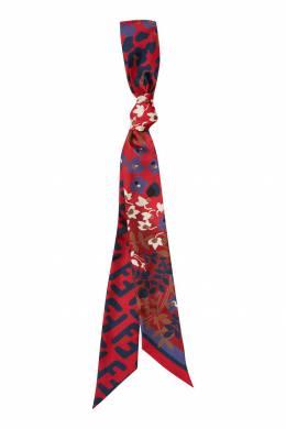 Красный шарф-бандо с принтом Fendi 1632150454