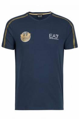 """Синяя футболка с декором от """"Armani"""" Ea7 2944149697"""