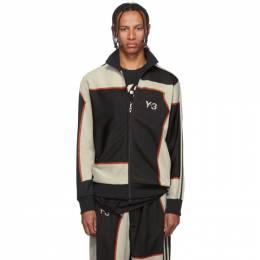 Y-3 Black Colorblock Zip-Up Jacket 192138M20201302GB
