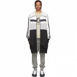 Y-3 White and Grey Oversize Varsity Track Jacket 192138M20201404GB