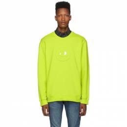 MCQ by Alexander McQueen Yellow Embossed Chester Sweatshirt 192114M20401106GB