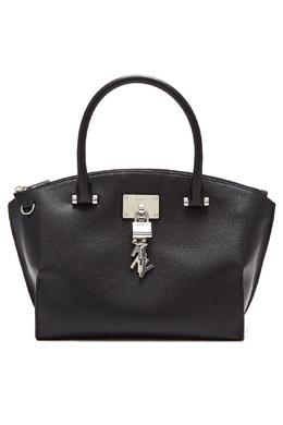 Черная кожаная сумка DKNY 1117149135