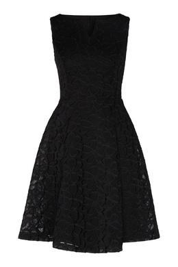 Черное платье с кружевной отделкой DKNY 1117149042