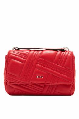 Красная сумка с фактурным узором DKNY 1117149127