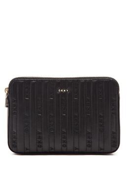 Черная сумка с фактурной отделкой DKNY 1117149129