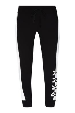 Черные брюки с лампасами DKNY 1117149002