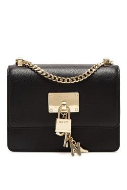 Черная сумка-кроссбоди с подвеской DKNY 1117149158