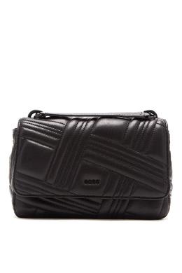 Черная сумка-кроссбоди с фактурной отделкой DKNY 1117149154