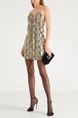 Короткое платье со змеиным принтом Gucci 470121384