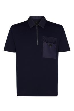 Поло темно-синего цвета Prada 40150730