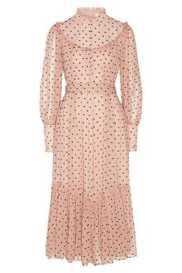 Розовое платье в горох Zimmermann 1411150807