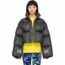 Off-White Black Down 3D Cropped Puffer Jacket OWEA192F19F770500900