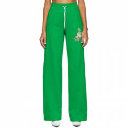 Off-White Green Logo Lounge Pants OWCH005F19F300504000