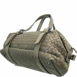 Bottega Veneta Khaki Intrecciato Leather Shoulder Bag 222956
