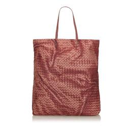 Bottega Veneta Red Intrecciato Nylon Tote Bag 223893