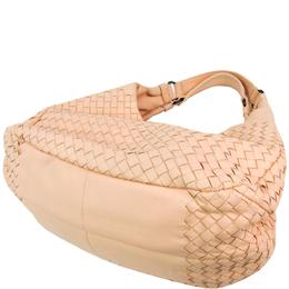 Bottega Veneta Beige Intrecciato Leather Hobo Bag 222928